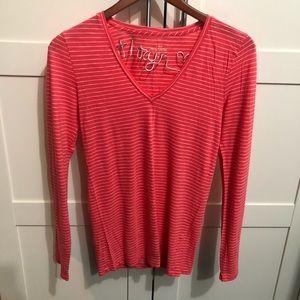 J.Crew - Vintage Cotton Coral Stripe Shirt